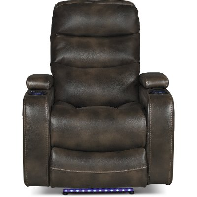 Coffee Brown Power Home Theater Recliner - Nicholas