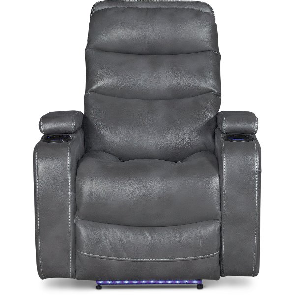 ... Slate Gray Power Home Theater Recliner
