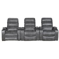 Slate Gray 3-Piece Power Home Theater Seating - Nicholas