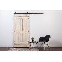 K1RB3070TQ6NS White Wash 3' x 7' Ranch Style Barn Door