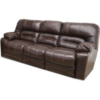 Chocolate Brown Leather-Match Power Reclining Sofa - Legacy