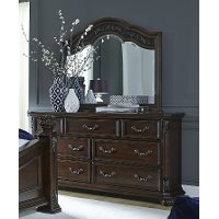 Traditional Cognac Brown Dresser - Messina