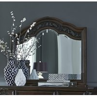 Cognac Brown Traditional Mirror - Messina