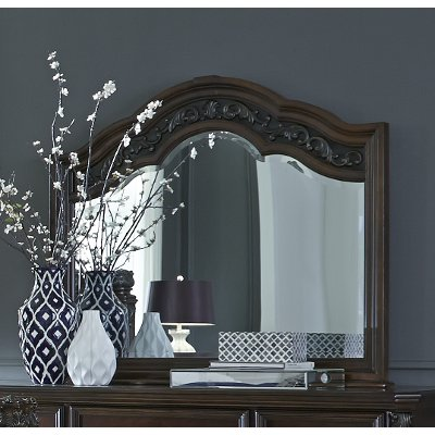 Traditional Cognac Brown Mirror - Messina