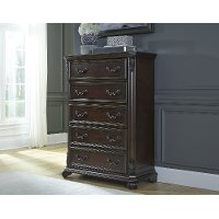 Cognac Brown Traditional Chest of Drawers - Messina