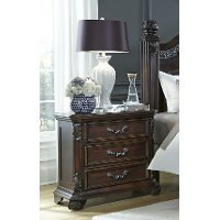 Cognac Brown Traditional Nightstand - Messina