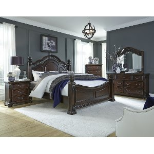 cognac brown traditional 6 piece king bedroom set messina rc willey furniture store