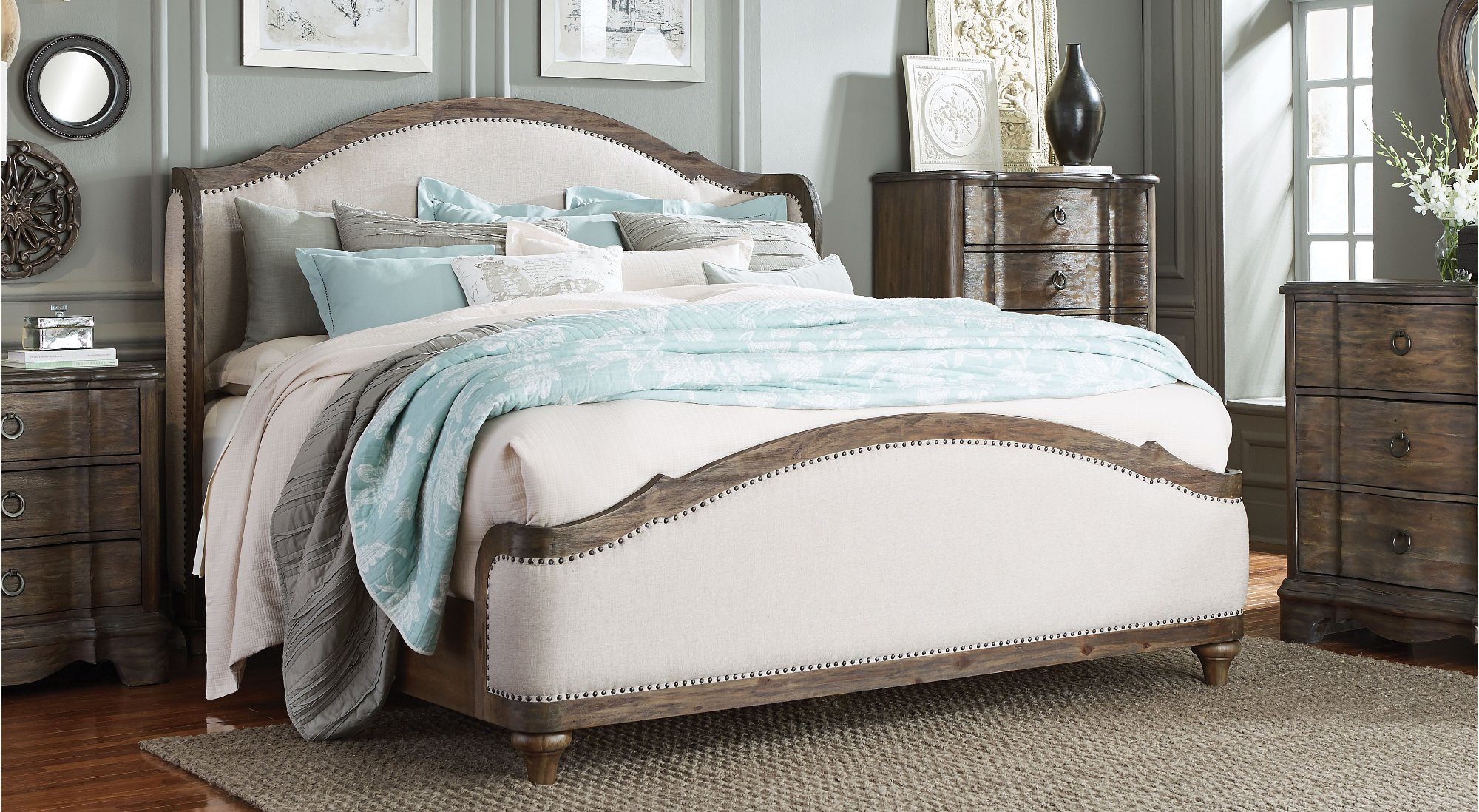 upholstered bed set 6 bedroom set parliament rc willey 13694
