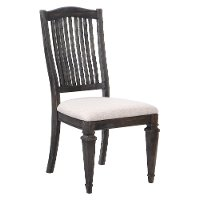 Charcoal Upholstered Dining Room Chair - Sutton Place