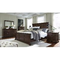 Brown Ale Classic Traditional 6 Piece King Bedroom Set - Weston