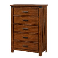 Rustic Contemporary Brown Chest of Drawers - Logan