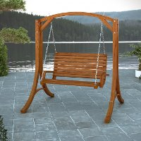 Cinnamon Brown Patio Swing - Wood Canyon