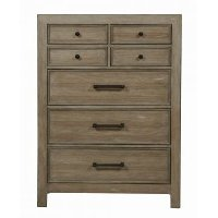 Rustic Contemporary Light Autumn Chest of Drawers - Flatbush