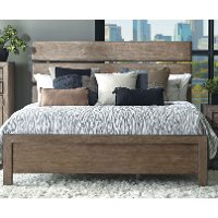 Rustic Contemporary Light Autumn King Bed - Flatbush