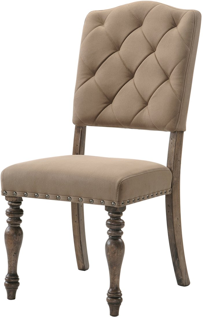 HM8006 18/TUFTEDCHR Driftwood Tufted Dining Chair   Metropolitan Collection