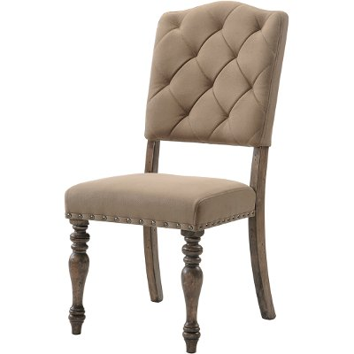 driftwood tufted dining chair - metropolitan collection | rc