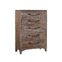 Cocoa Brown Rustic Contemporary Chest of Drawers - Bohemian