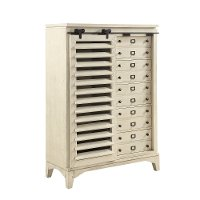 Rustic Contemporary Linen White Door Chest - Bohemian