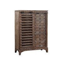 Cocoa Brown Rustic Contemporary Door Chest - Bohemian