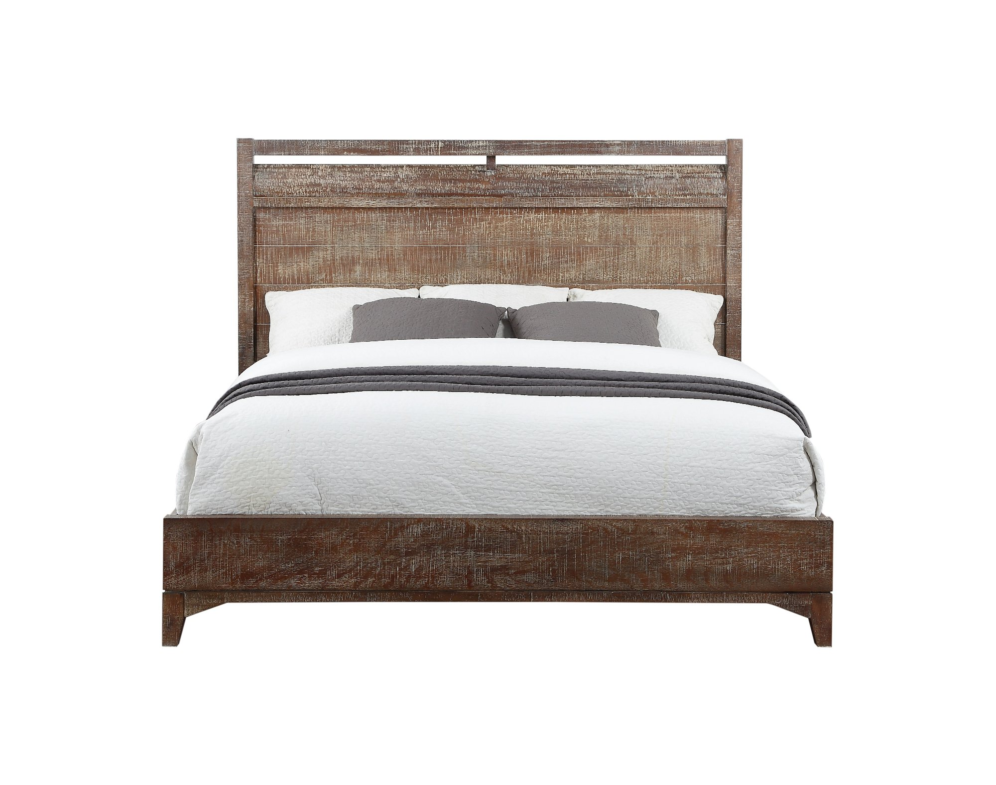 Rustic contemporary cocoa 6 piece queen bedroom set bohemian rc willey furniture store - Benefits of contemporary queen bed ...