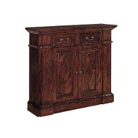 Mahogany Diamond Inlay Top Cabinet - Benjamin