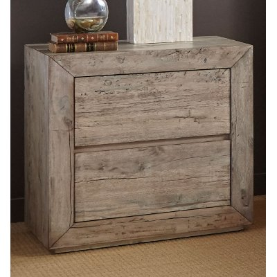 Modern Rustic Whitewash Nightstand - Renewal