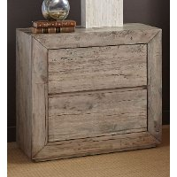 White-Washed Modern Rustic Nightstand - Renewal