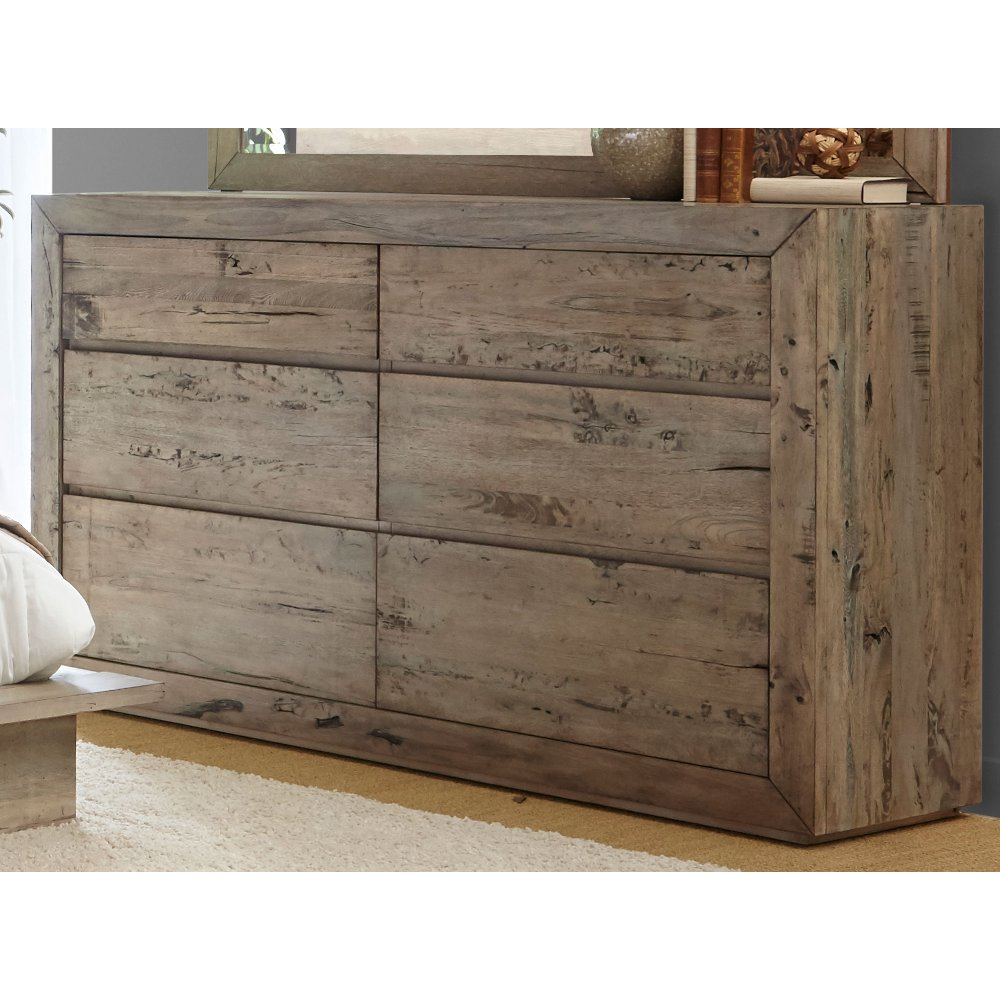 White Washed Modern Rustic Dresser