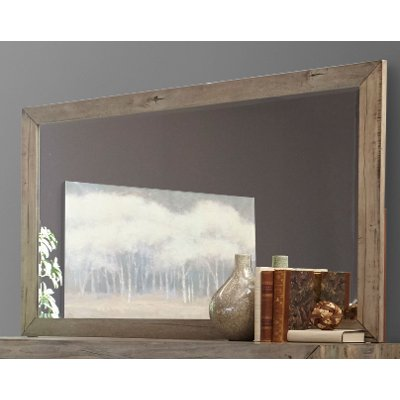 White Washed Modern Rustic Mirror - Renewal