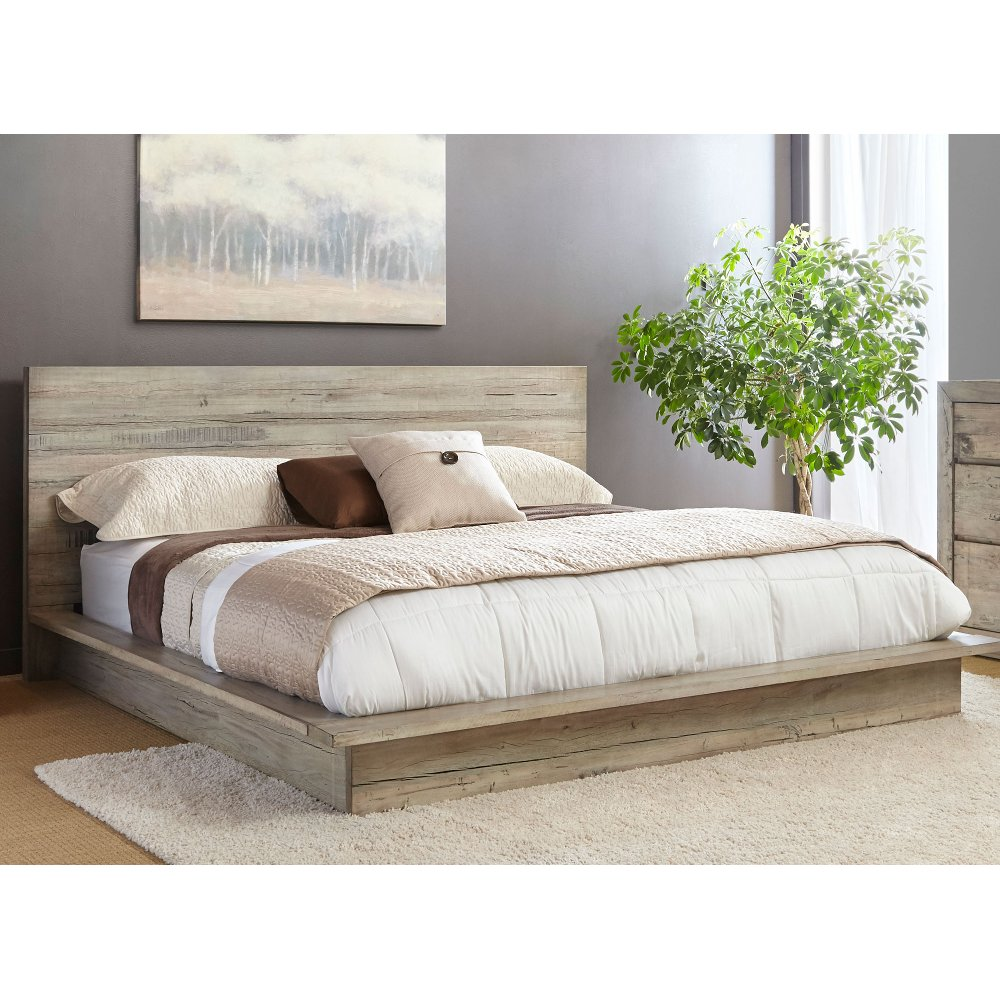 Pictures of platform beds - White Washed Modern Rustic Queen Platform Bed Renewal