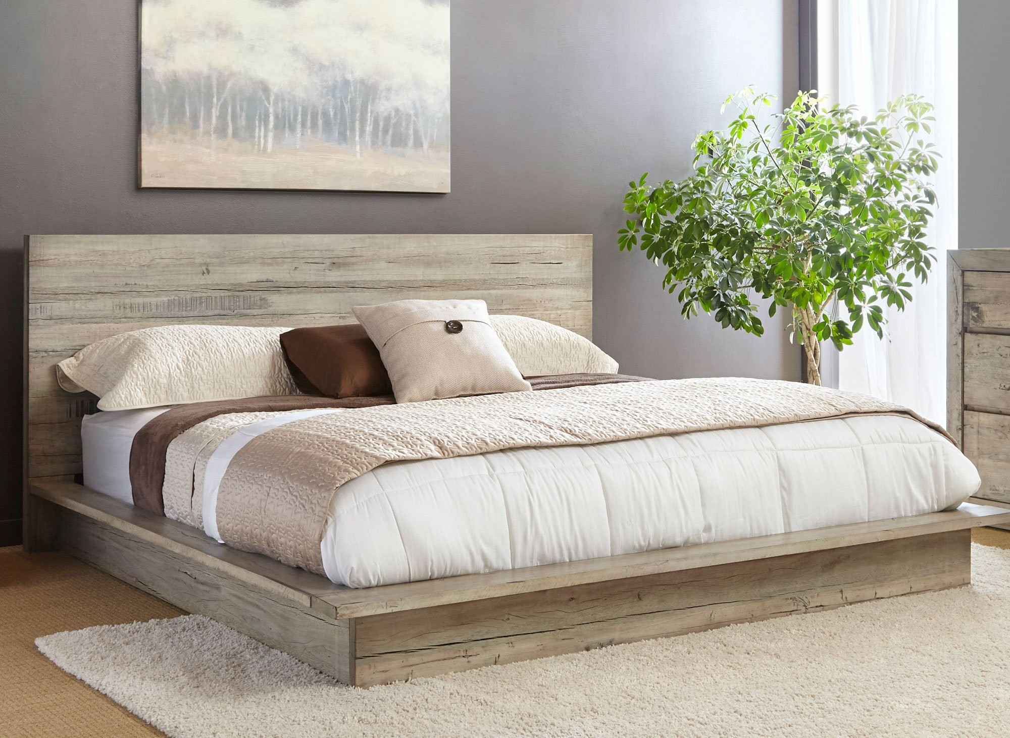 whitewashed modern rustic california king platform bed  renewal. whitewashed modern rustic  piece california king bed bedroom set