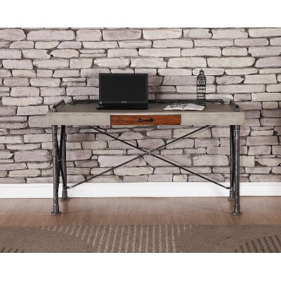 Contemporary Office Desk Steampunk RC Willey Furniture Store