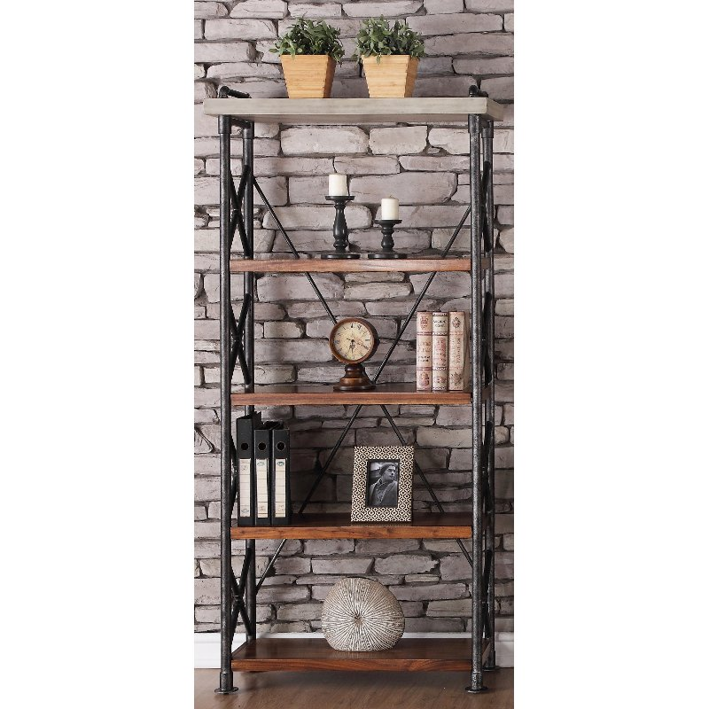 36 inch contemporary bookcase   steampunk rcwilley image1~800