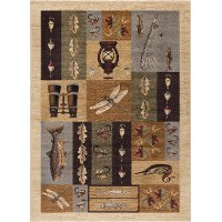 NTR6522 4x6 4 x 6 Small Ivory Lodge Area Rug - Nature