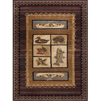 NTR6538 4x6 4 x 6 Small Brown Lodge Area Rug - Nature