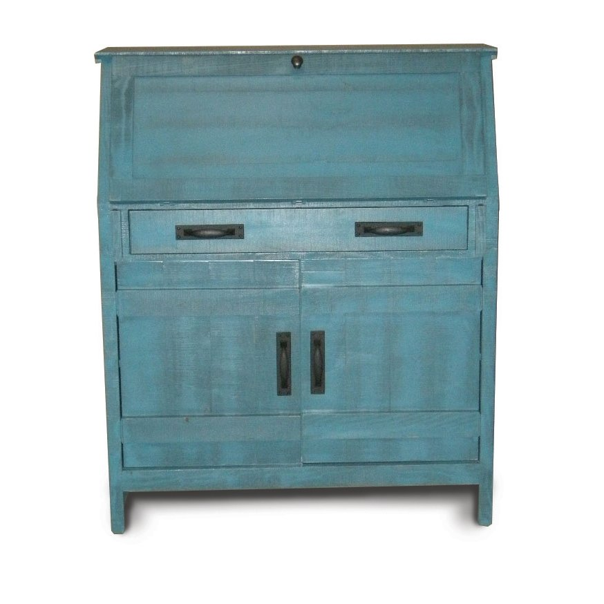 Shop office desks for sale rc willey furniture store descano distressed antique blue drop lid desk publicscrutiny Choice Image
