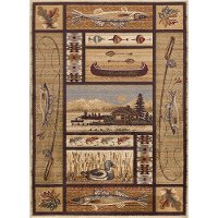 NTR66324x6 4 x 6 Small Beige Lodge Area Rug - Nature