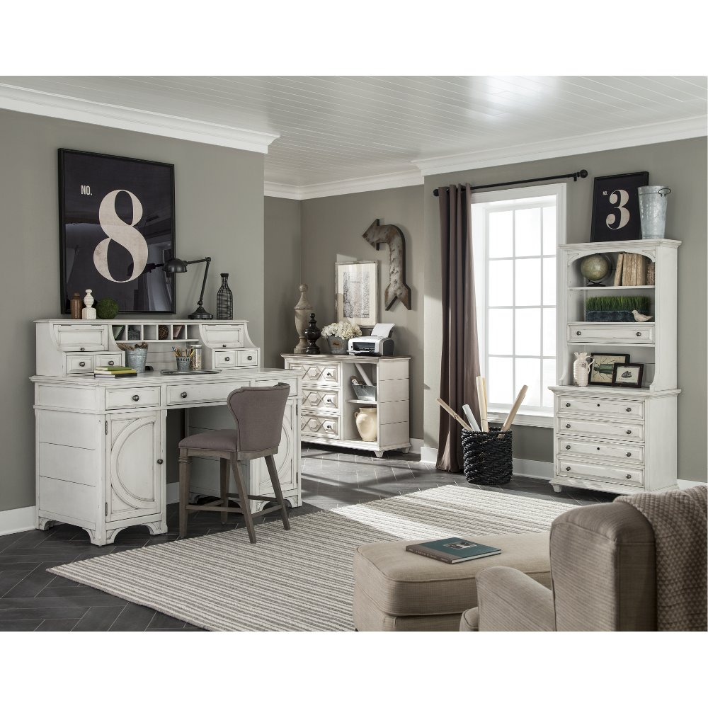 Counter Height Antique Desk And Hutch   Hancock Park | RC Willey Furniture  Store