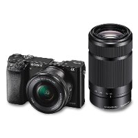 ILCE6000YB Sony a6000 E-mount Digital Camera with 16-50mm and 55-210mm Lenses - Black