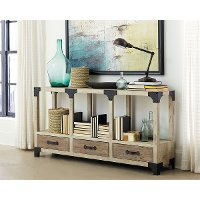 64 Inch Antique White TV Stand - Reclamation Place