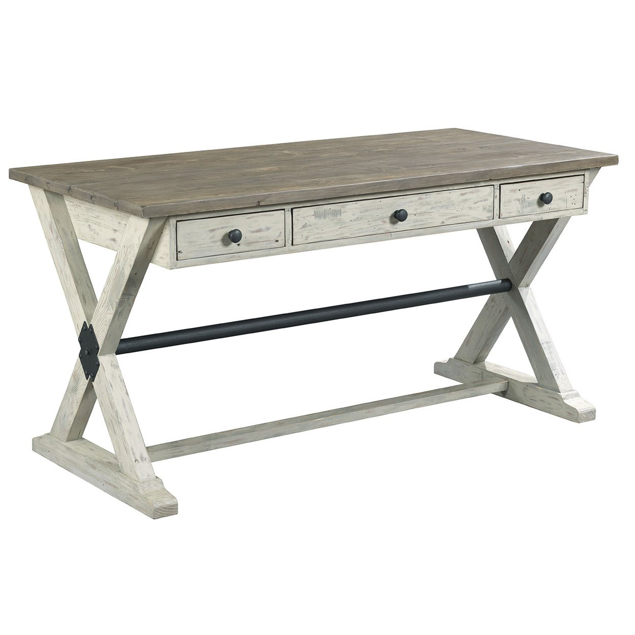 Antique White Contemporary Office Desk - Reclamation Place | RC Willey  Furniture Store - Antique White Contemporary Office Desk - Reclamation Place RC