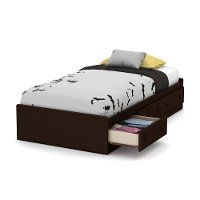10406 Espresso Twin Mates Bed - Little Smileys