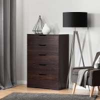 10401 Modern Farmhouse Red-Brown Oak Chest of Drawers - Holland