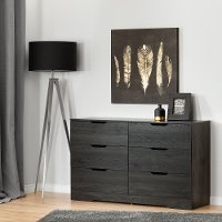 10395 Modern Farmhouse Gray Oak Dresser - Holland