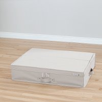 100040 Beige Canvas Underbed Storage Box - Storit