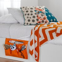 100046 Orange Canvas Bedside Storage Caddy - Storit