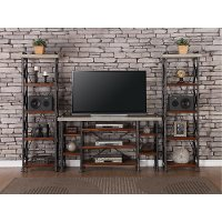 3 Piece Contemporary Entertainment Center - Steampunk