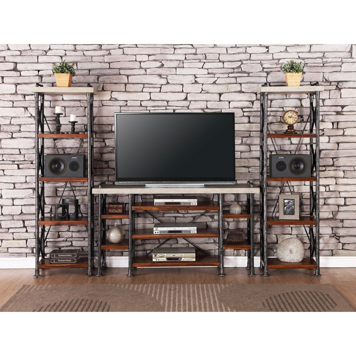 3-Piece Contemporary Entertainment Center - Steampunk | RC Willey Furniture  Store