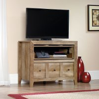 Sauder Rustic Light Oak TV Stand - Dakota Pass