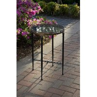 Chic Round Black Accent Table
